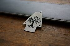 Hand Made Etched Nickel Silver Truss Rod Cover fits Ibanez - Tribal Tree of Life
