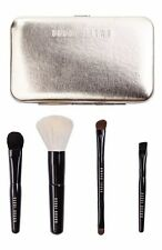 Bobbi Brown Old Hollywood Collection Travel Make Up Brush Set GOLD Case 5 Pc NEW