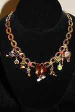 Kirks Folly Wizard of Oz Necklace Toto Witch Emerald City Crystals + Charms