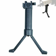 Tactical Foldable Vertical Hand Grip Foregrip Rail with Retractable Bipod Stand