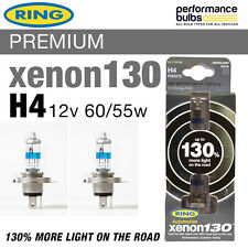 H4 RING XENON 130 BULBS fits VW TRANSPORTER T4 90-03 HEADLIGHT BULBS TWIN PACK