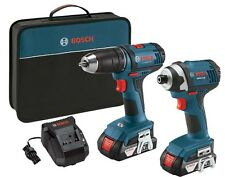 Bosch 18V 1/2-Inch Drill 1/4-Inch Hex Impact Driver, Refurbished CLPK26-181
