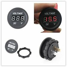 12V-24V Waterproof Car Motorcycle LED DC Digital Display Voltmeter Socket Y5