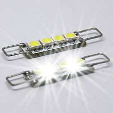 2X Rigid Loop Hook Türbeleuchtung Soffitte 4SMD - 42mm LED weiß Chrysler 300C