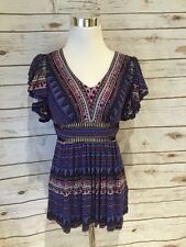 Anthropologie Tunic Blouse Small Woman Purple Tracy Reece New With Tags