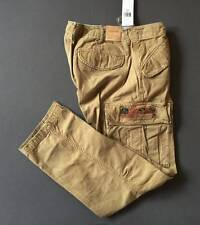 Ralph Lauren Denim & Supply Slim Fit Cargo Pants Military Khaki 32 x 30 Genuine