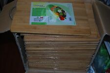 "LOT OF 30 BAMBOO WOOD KITCHEN FOOD CUTTING KNIFE CHOP CHOPPING BOARD 14""X10"""