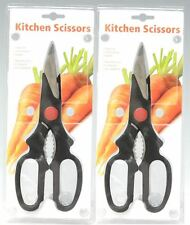 2 Pairs Heavy Duty Kitchen Scissors Home Office Craft Meat Fish Durable