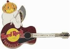 Hard Rock Cafe YOKOHAMA 1999 HALLOWEEN PIN Pumpkin Ghost Guitar - HRC #10605