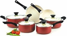 NEW! Cook N Home NC-00359 Nonstick Ceramic Coating 10-Piece Cookware Set, (Red)