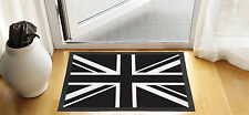 "24 X 16 "" BLACK & WHITE UNION JACK DESIGN ENTRANCE DOOR MAT NON SLIP ADVERTISING"
