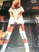German sexy Debbie Harry Blondie Poster wow hot  legs 70's 70er aus POP selten