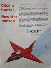 12/1973 PUB SPERRY FLIGHT SYSTEMS F-102 DELTA DAGGER PQM-102 RPV ORIGINAL AD