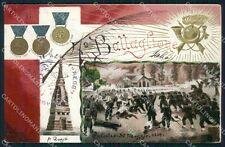 Militari VII Battaglione Bersaglieri Palestro cartolina XF1300