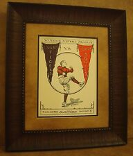 "VINTAGE TEXAS A&M COLLEGE FOOTBALL POSTER  FRAMED ""A&M VS SEWANEE"" OCT. 1926"