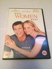 What Women Want (DVD, 2001) mel gibson, helen hunt, region 2 uk dvd
