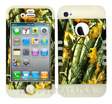 KoolKase Hybrid Silicone Cover Case for Apple iPhone 4 4S - Camo Mossy 08