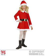 Childrens Santa Girl Fancy Dress Costume Mrs Claus Christmas Outfit 140Cm