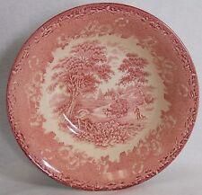 ENGLISH IRONSTONE china KINGSWOOD Pink pattern ROUND VEGETABLE Bowl muted rim