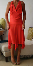 FRENCH CONNECTION Red Silk Floaty Dress UK8