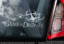 GAME OF DRONES - Car Window Sticker -Drone Sign Thrones Phantom Silhouette - V5