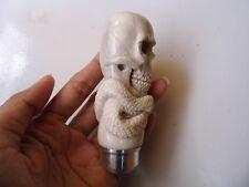 Skull Head Snake Gear Shift Knob Handle Transmission F/r Deer Antler Carved_w854