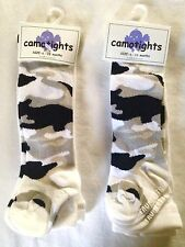 Lot of 2 Baby Girl Camo Tights Trumpette Size 6-12 Month Thick Fabric Camouflage