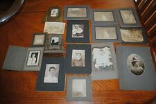 16 Antique Photographs EARLY Outside and Portrait Mixed sizes