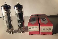 Pair ED8000  Tubes All    Telefunken For SE Single-Ended Or OTL Amplifier