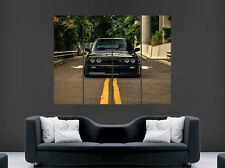 BMW E30 M3 BLACK CAR POSTER FAST SPEED RACING SPORT WALL ART PRINT LARGE