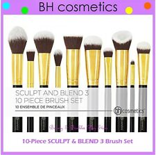 NEW BH Cosmetics 10-Piece SCULPT AND BLEND 3 Face & Eye Brush Set FREE SHIPPING