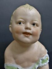 """ANTIQUE GERMANY PIANO BABY FIGURE HEUBACH BOY TOUCHING TOES 5 ¾"""""""