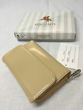 VISCONTI Quality Ladies Taupe Soft Leather PURSE WALLET New in Gift Box