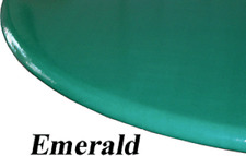 """Stretch to fit Elastic Edge Round Vinyl Tablecloth  36"""" to 48"""" Emerald Green"""