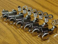 NEW Grover LOCKING CHROME TUNERS 6 In Line for Fender Strat Tele Guitar