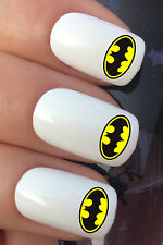 NAIL ART SET #683 x20 SUPERHERO BATMAN CHEST LOGO WATER TRANSFER DECALS STICKERS