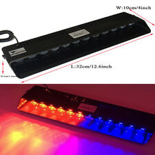 12LED FLASH STROBE BAR  DASH POLICE EMERGENCY WARNING LIGHT Red/Blue HOT
