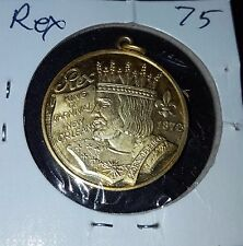Rex 1975, .925 Sterling Silver New Orleans Mardi Gras Doubloon Charm S4044.