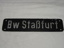 """LOKSCHILD """"Bw STAßFURT"""" DEUTSCHE BAHN, SCHILD, WAGGON SCHILD"""