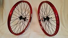 SUN ENVY WHEEL SET BMX 20X1.75 SEALED CASSETTE HUB 16T 3/8  RED