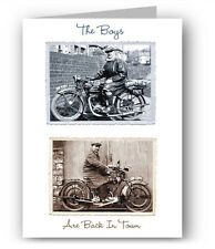 Sunbeam & BSA Vintage Motorcycle Greeting Card
