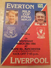 1984 LEAGUE CUP FINAL REPLAY - EVERTON v LIVERPOOL