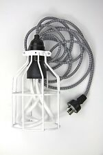 modern pendant lamp hanging light cloth cord cage ceiling rose cage trouble kit