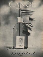 Publicité Advertising  CANOE eau de cologne  DANA