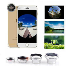 4in1 Fish Eye + Wide Angle Macro + Telephoto Lens Camera for iPhone 6s 6 Plus 7