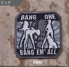 Mil-Spec Monkey BANG ONE BANG EM' ALL morale patch hook back SWAT