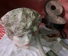 Vintage Hoover Portable Bonnet Hair Dryer With Case Model 8210