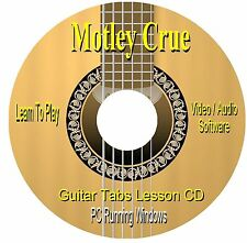 Motley Crue **GUITAR TABS*Lesson Software CD
