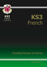 KS3 French Complete Revision and Practice with Audio CD (Paperback), CGP Books