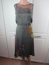 ALMOST FAMOUS LONDON DRESS 16 grey print silk Occasion Event